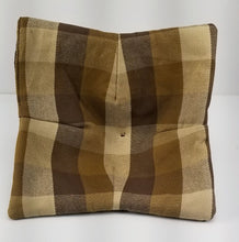 Load image into Gallery viewer, Microwave Bowl Lifter/Bowl Cozy - Brown Plaid (set of two)