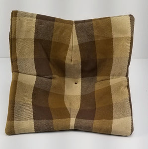 Microwave Bowl Lifter/Bowl Cozy - Brown Plaid (set of two)