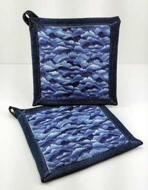 Pot Holders - Stormy Weather/Clouds