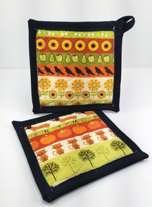 Pot Holders - Welcome, Fall!