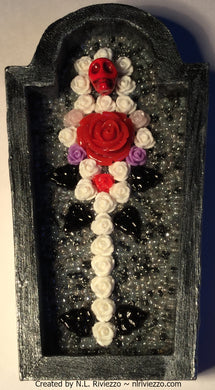 Bead Mosaic - Mourning Flowers II