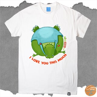 Tricou personalizat Dinozauri  I love you this much by Kizu Story prezentare