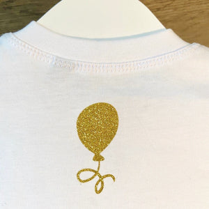 Kids - WHITE Organic T-shirt with personalised initial/number - Choose your finish