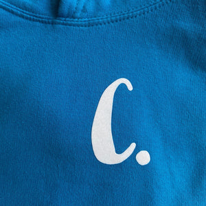 Kids - Sapphire Blue Hoodie with personalised initial