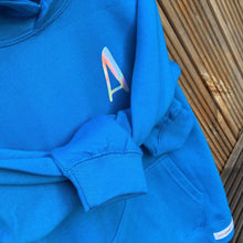 Load image into Gallery viewer, Kids - SAPPHIRE BLUE personalised initial hoodie