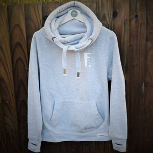 The ultimate GREY hoodie with personalised initial. Unisex
