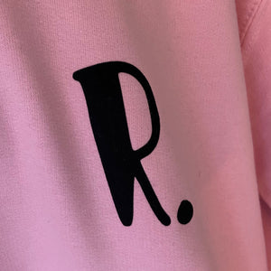 Kids - Pink Hoodie with personalised initial