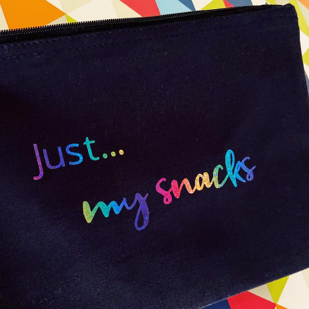 Just... my snacks - The perfect personalised pouch