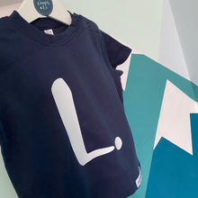 Load image into Gallery viewer, Toddlers - Organic T-shirt with personalised initial/number