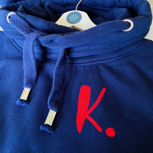 The ultimate NAVY hoodie with personalised initial. Unisex