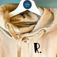 Load image into Gallery viewer, The ultimate NUDE hoodie with personalised initial. Unisex