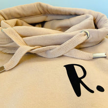 Load image into Gallery viewer, The ultimate BISCUIT hoodie with personalised initial. Unisex