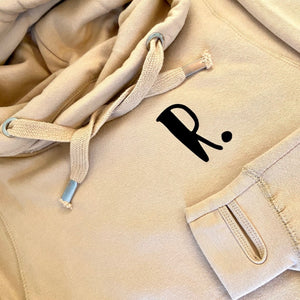 The ultimate NUDE hoodie with personalised initial. Unisex