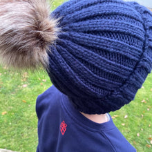 Load image into Gallery viewer, Kids - Chunky knit pom pom beanie