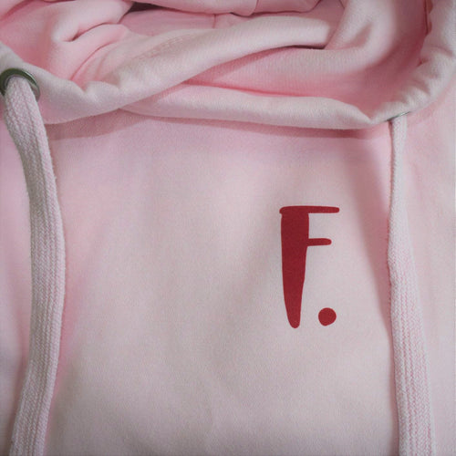 The ultimate BABY PINK hoodie with personalised initial. Unisex