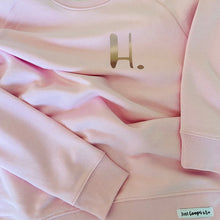 Load image into Gallery viewer, Womens - Personalised Initial Organic sweater - Pink