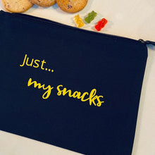 Load image into Gallery viewer, Just... my snacks - The perfect personalised pouch