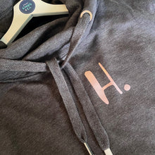 Load image into Gallery viewer, The ultimate CHARCOAL hoodie with personalised initial. Unisex