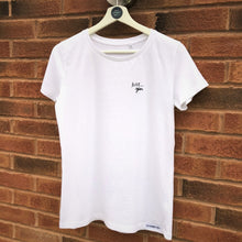 Load image into Gallery viewer, Just... gin - Women's T-Shirt classic slimmer fit WHITE (organic)