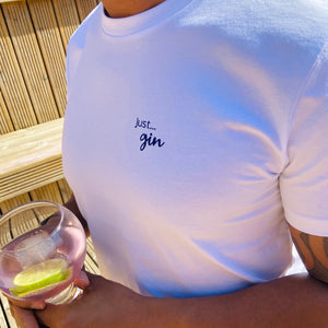 Mens - Just... gin - Organic T-Shirt White
