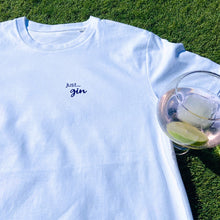 Load image into Gallery viewer, Mens - Just... gin - Organic T-Shirt White