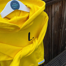 Load image into Gallery viewer, Kids - Yellow Hoodie with personalised initial