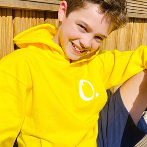 Kids - Yellow Hoodie with personalised initial
