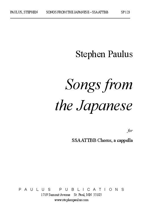 Songs from the Japanese – Stephen Paulus Music
