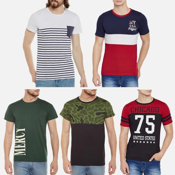 Pack of 5 Branded T-Shirts