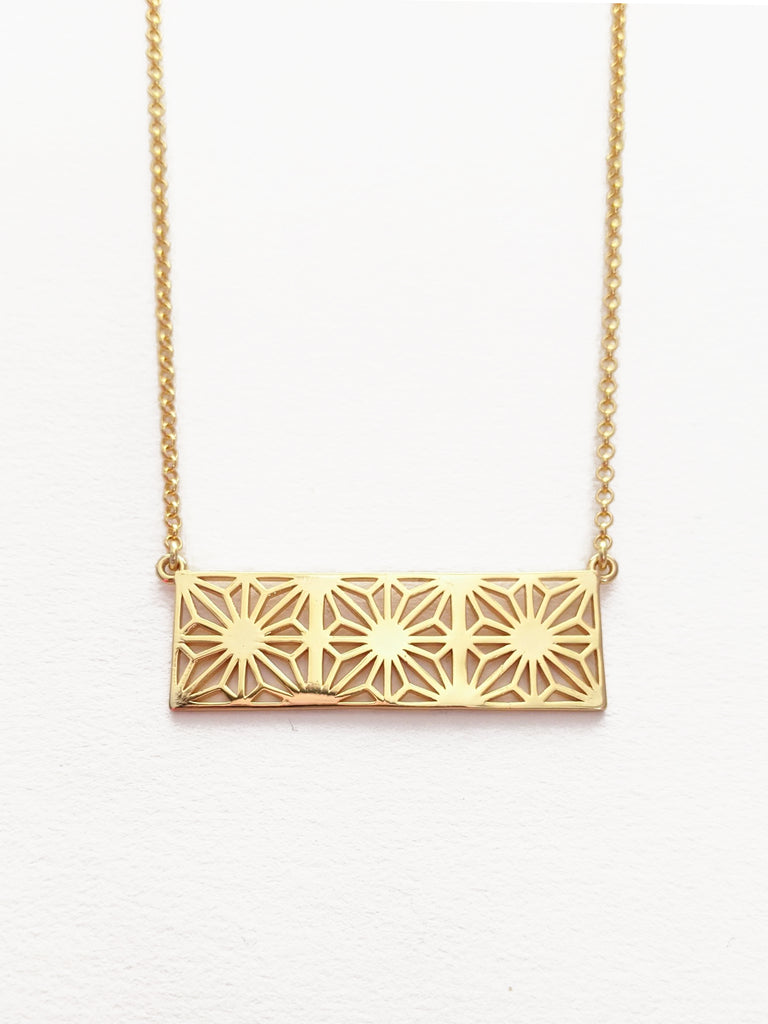 Asa Rectangle Gold Necklace