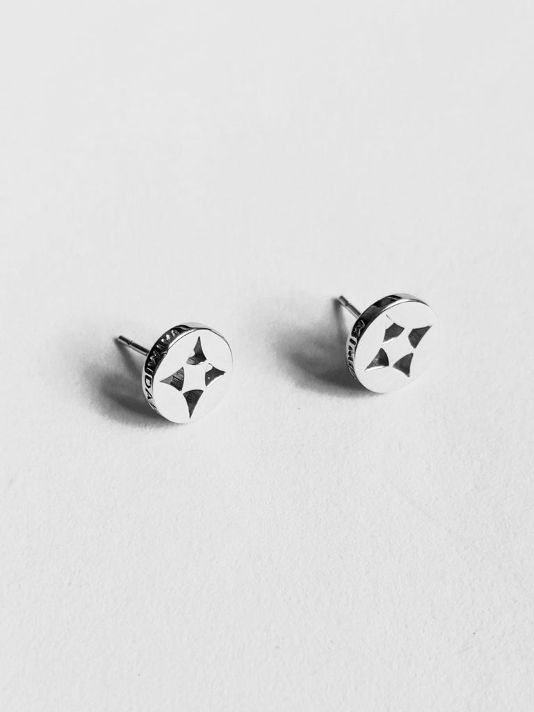 Shippou Silver Stud Earrings
