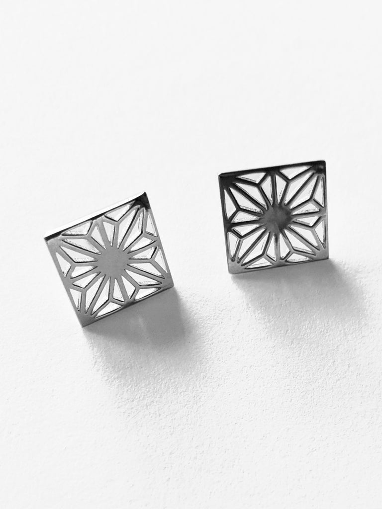 Asa Silver Stud Earrings