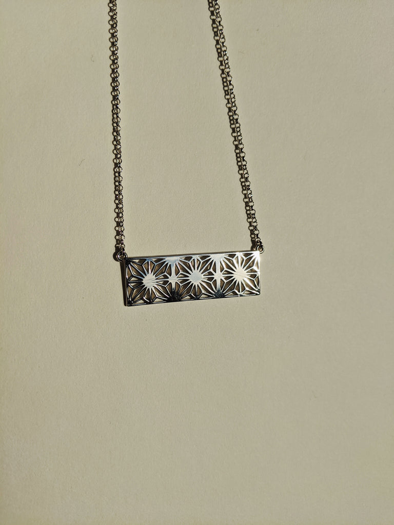 Asa Silver Rectangle Necklace