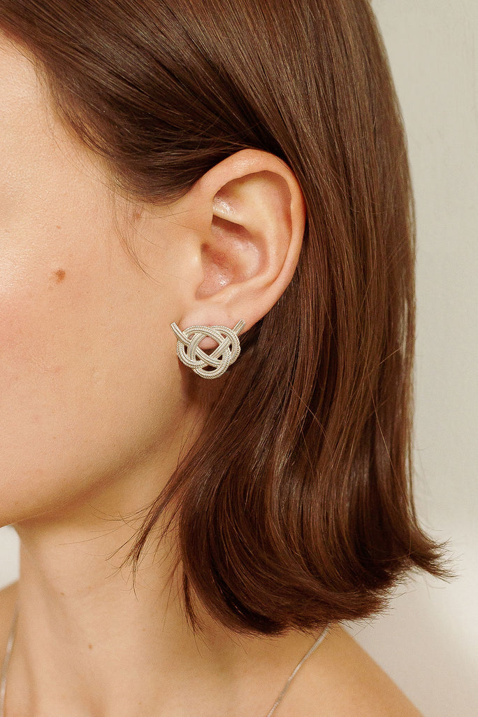 Awaji Silver Earrings