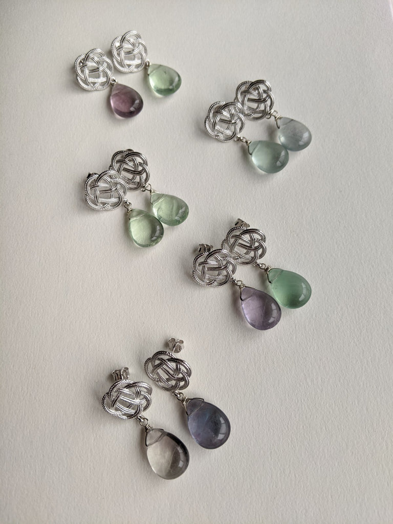 Ume Earrings with Fluorite