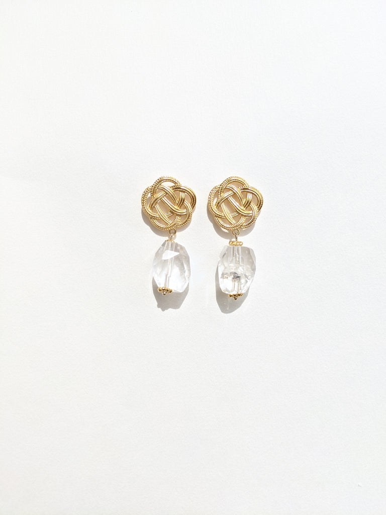 Ume Earrings with Clear Quartz