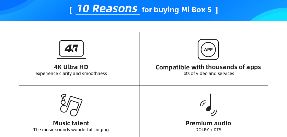 Global Version Xiaomi Mi TV Box S - Treasure Kleny