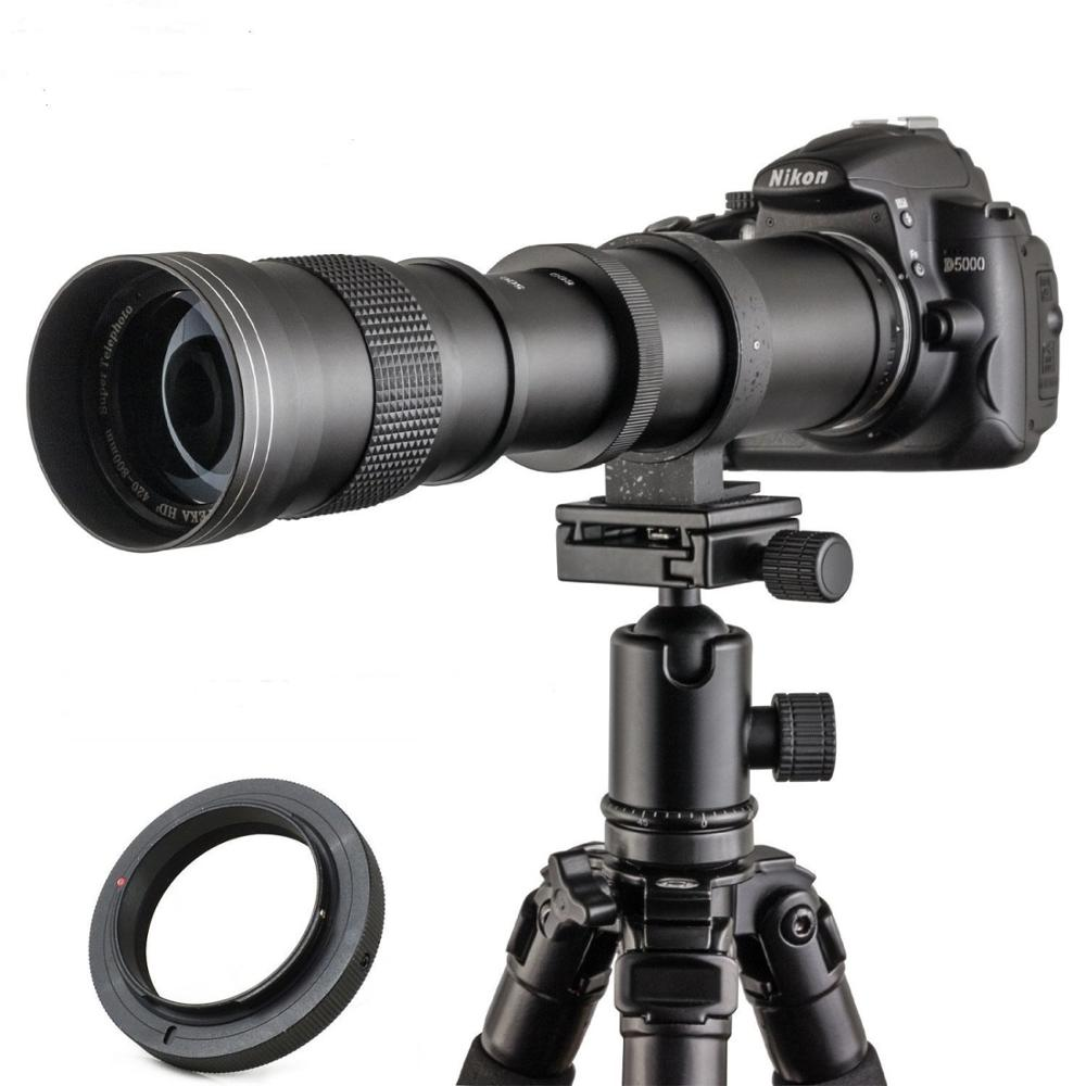 JINTU 420-800mm f/8.3 Manual Telephoto Lens For Nikon Camera
