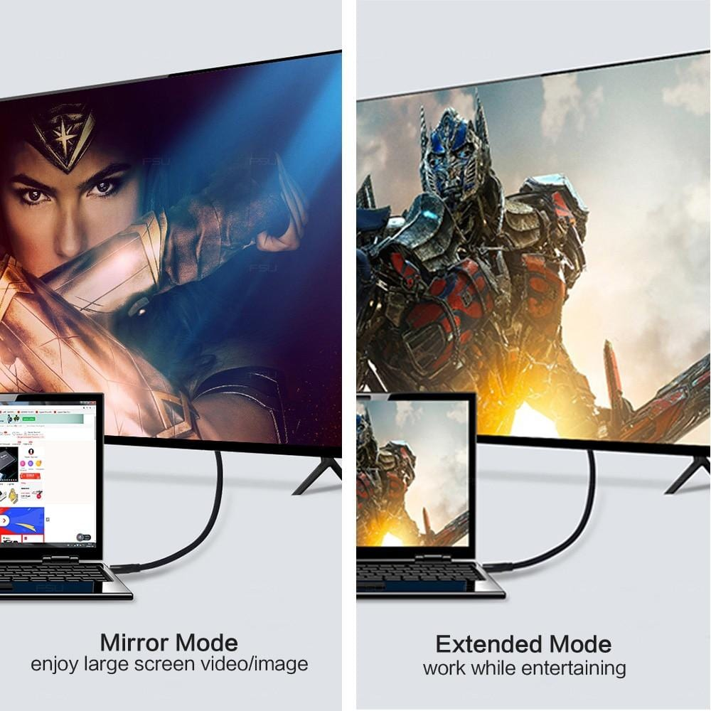 Mirror-mode-Extended-mode-HDMI-cable