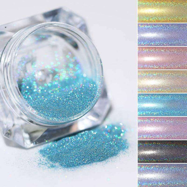 1 Box Holographic Nail Powder Nail Art,nails tools,Uunoshopping