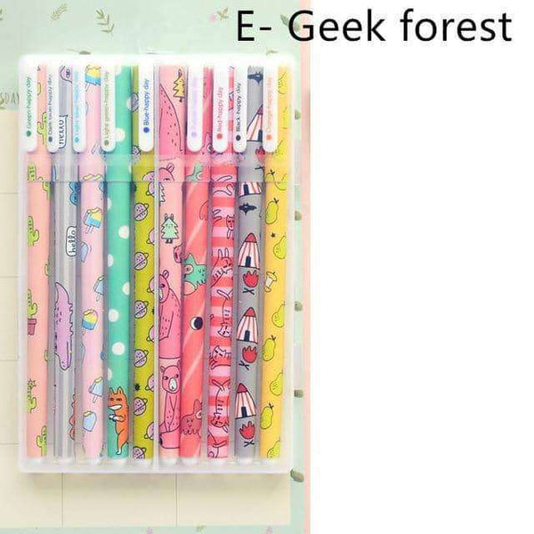 10 pcs/pack Color gel pen,Office,Uunoshopping