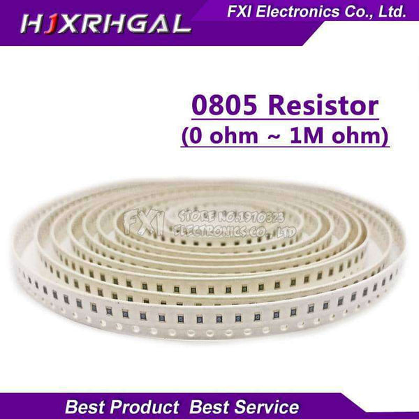 100Pcs 0805 SMD 1/4W 0R ~ 10M chip resistor,Electronic Components & Supplies,Uunoshopping