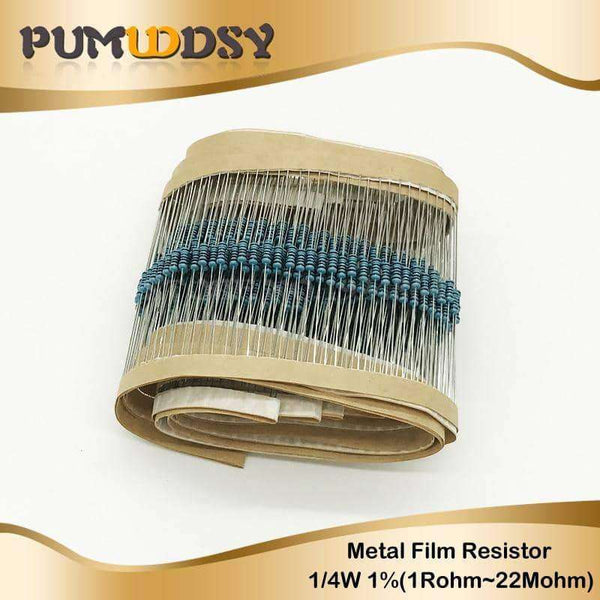 100pcs 1/4W Metal film resistor,Electronic Components & Supplies,Uunoshopping
