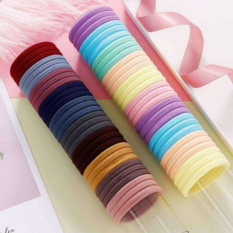 100PCS 4.0CM nylon elastic hair bands,Hair Care & Styling,Uunoshopping