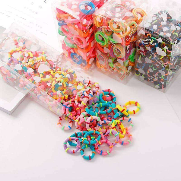 100PCS/Lot 3.0CM Children Cute Small Ring Rubber,Hair Care & Styling,Uunoshopping