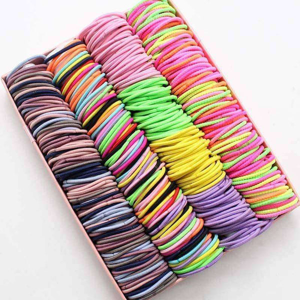 100pcs/lot 3CM Hair Accessories Rubber,Hair Care & Styling,Uunoshopping