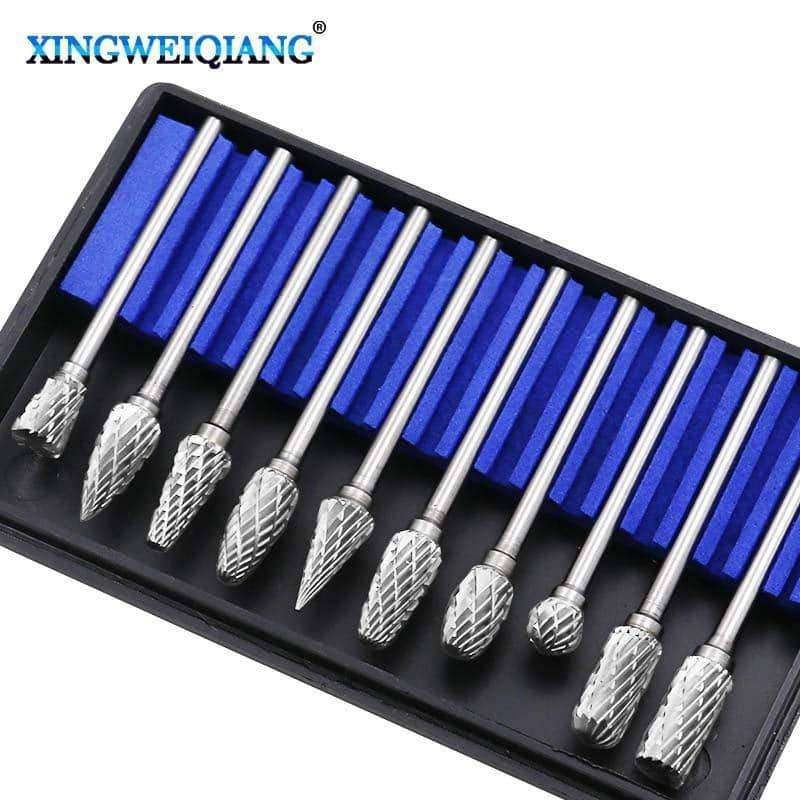 10pc Shank Tungsten Carbide Milling Cutter Tool kit,tools electronics,Uunoshopping