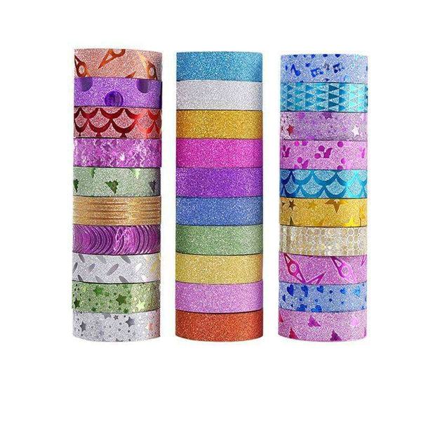 10PCS Glitter Washi Tape,Office,Uunoshopping