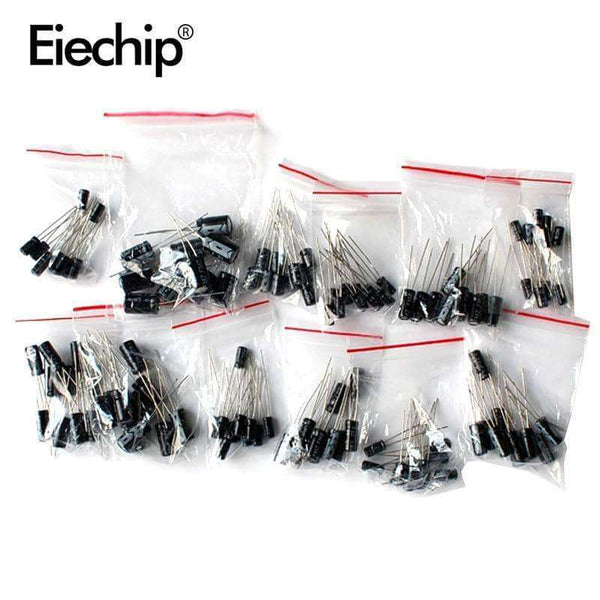 120pcs Aluminum Electrolytic Capacitor,Electronic Components & Supplies,Uunoshopping