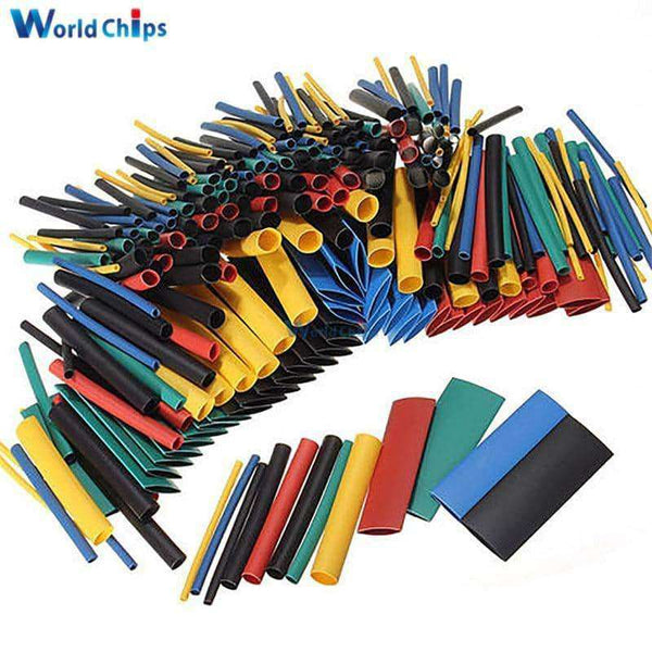 127/140/328/530Pcs Assorted Polyolefin Heat Shrink Tubing,Electronic Components & Supplies,Uunoshopping